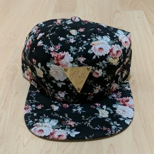 Accessories - Gold and Floral Snapback Hat